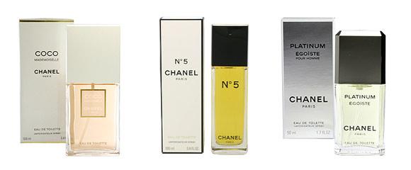 シャネルの香水各種